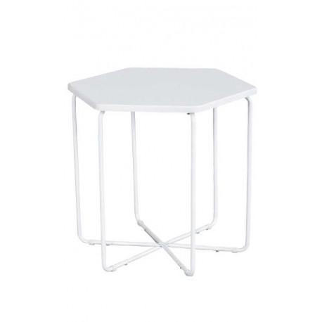 TABLE AUXILIAIRE HEXAGONALE BLANCHE Table basse de salon