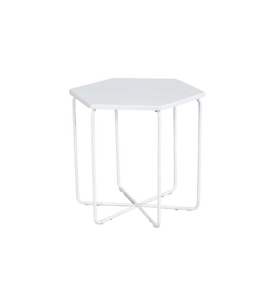 Table Auxiliaire Hexagonale Blanche