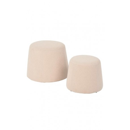 Pouf velours rose taille 2 Cojines