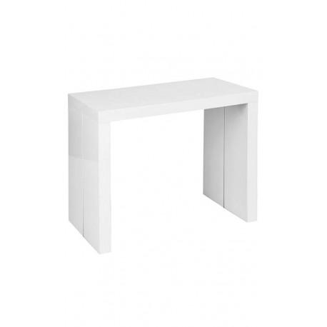 Mesa rectangular extensible blanca iconscorner for Mesa rectangular extensible