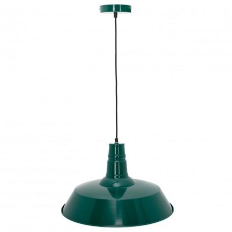 Lampe de suspension Industrielle Berlin en Vert SUspensions