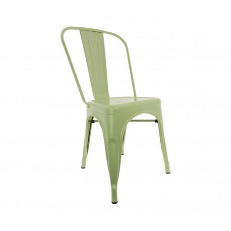 Chaise Vintage de style industriel Bleu Turquoise
