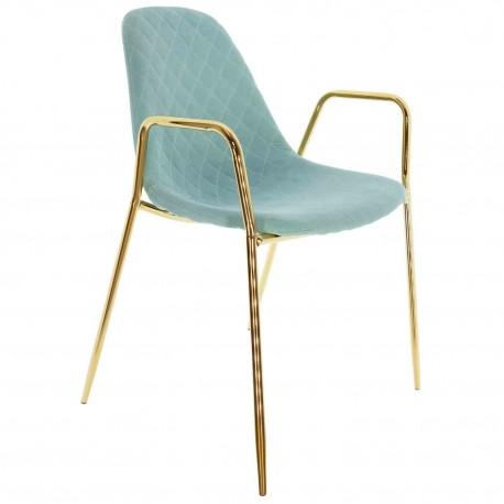 Chaise en tissu Verte Anthony Chaises rembourrées