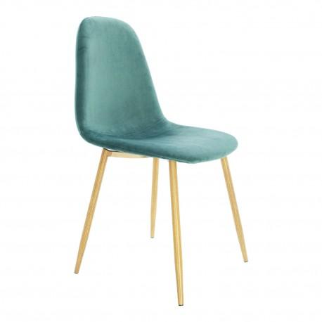 nouvelle chaise design en velours vert d eau lucia. Black Bedroom Furniture Sets. Home Design Ideas