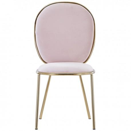 CHAISE DE VELOURS ROSE ADLER Chaises design moderne