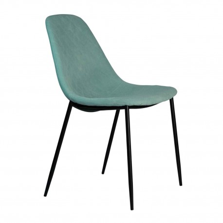Chaise en tissu vert Chaises rembourrées