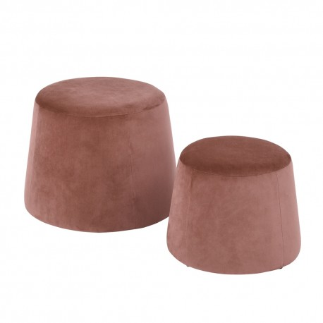 Pouf velours Rose 2 tailles Cojines