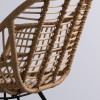 Fauteuil Klimanjaro en rotin avec la structure en métal Sillones de diseño moderno