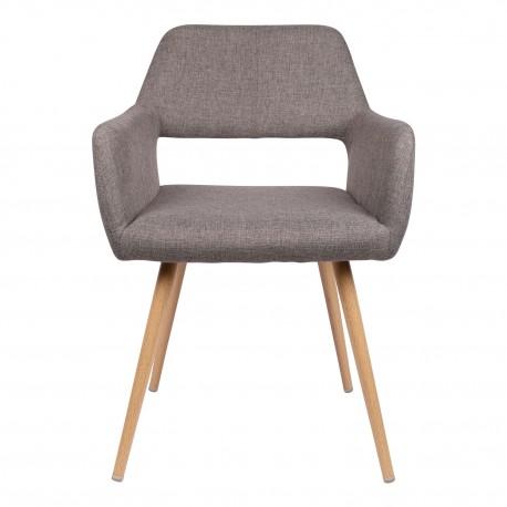 Fauteuil vintage Rembourré Vian gris Sillones de diseño moderno