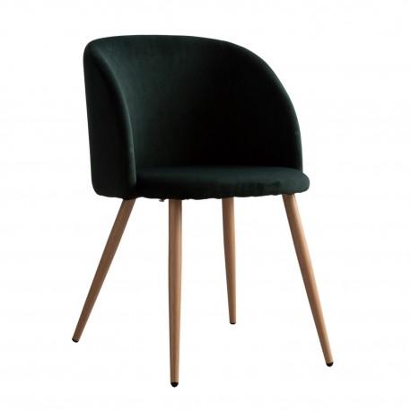 Fauteuils en velours Piaf vert Chaises design moderne