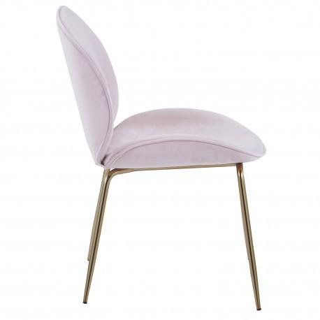 Chaise en velours Rose Mush Chaises de velours